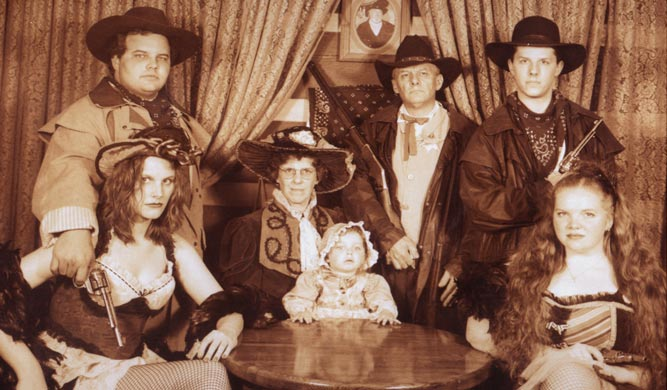 the Fiskeauxs, old west style